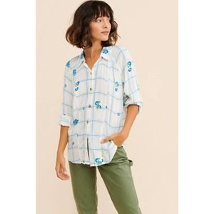 Free People Window To My Heart Button Down Floral